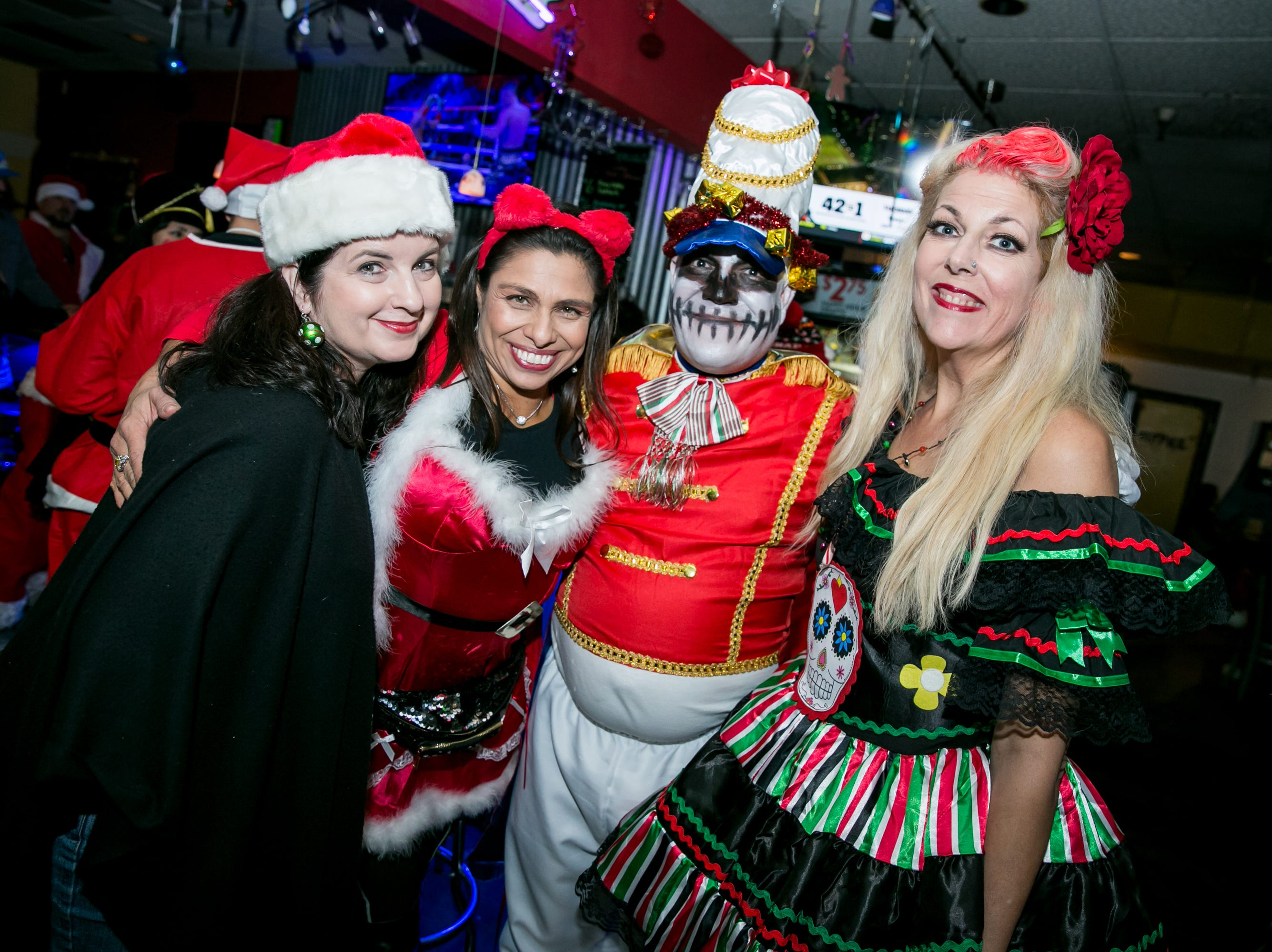 This group was full of holiday cheer at Steve's Greenhouse Grill during Santarchy on Saturday, December 8, 2018.