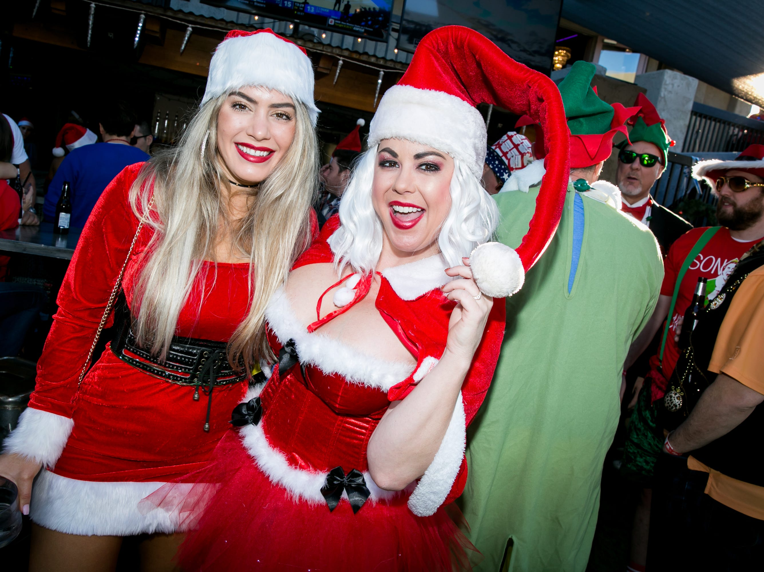 These ladies looked fantastic during the Scottsdale Santa Crawl at Wasted Grain on Saturday, December 8, 2018.