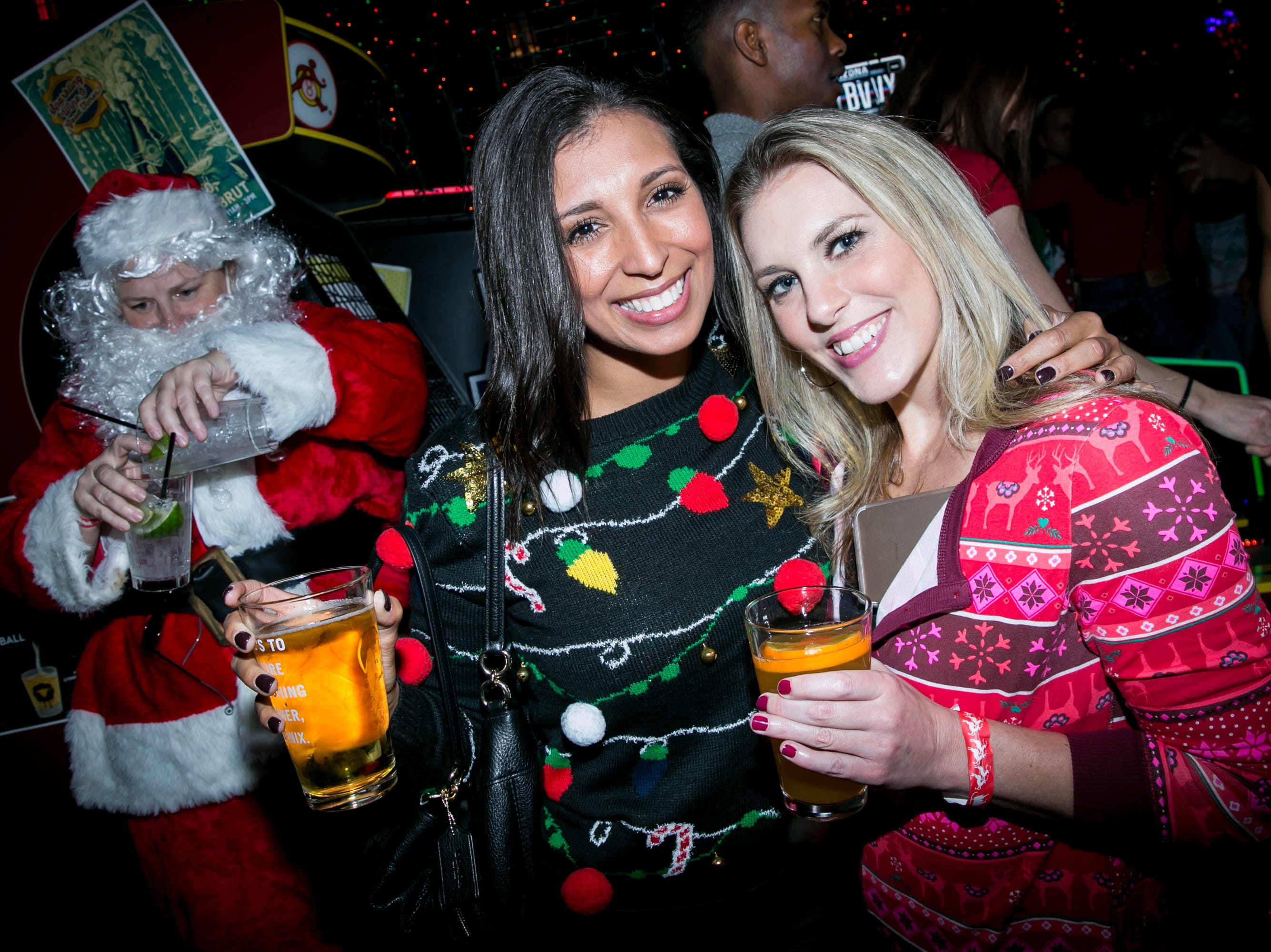 Santa made an apperance at The Bevvy during the Scottsdale Santa Crawl on Saturday, December 8, 2018.