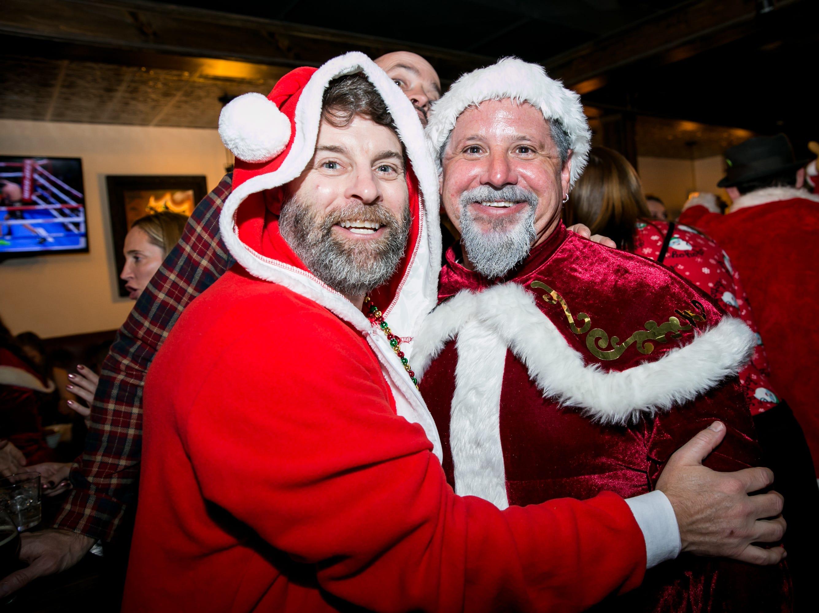 These Santas felt jolly during Santarchy on Saturday, December 8, 2018.