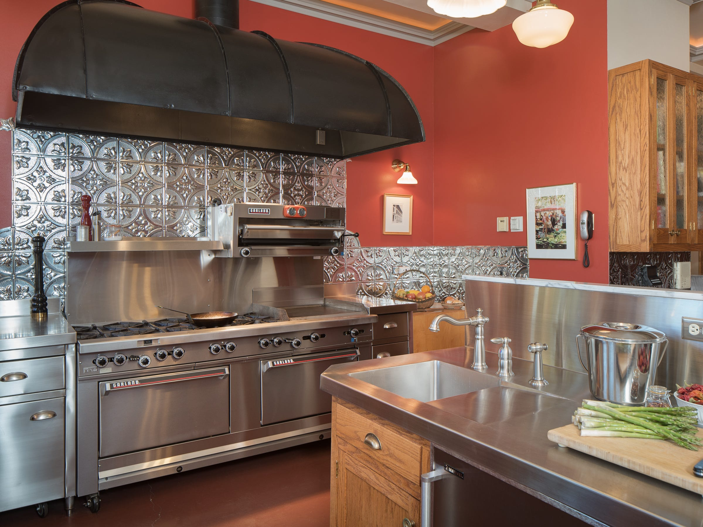 A kitchen island is seen in the 100-year-old former Little Daisy Hotel in Jerome, which was later turned into a single-family home and is now on the market.