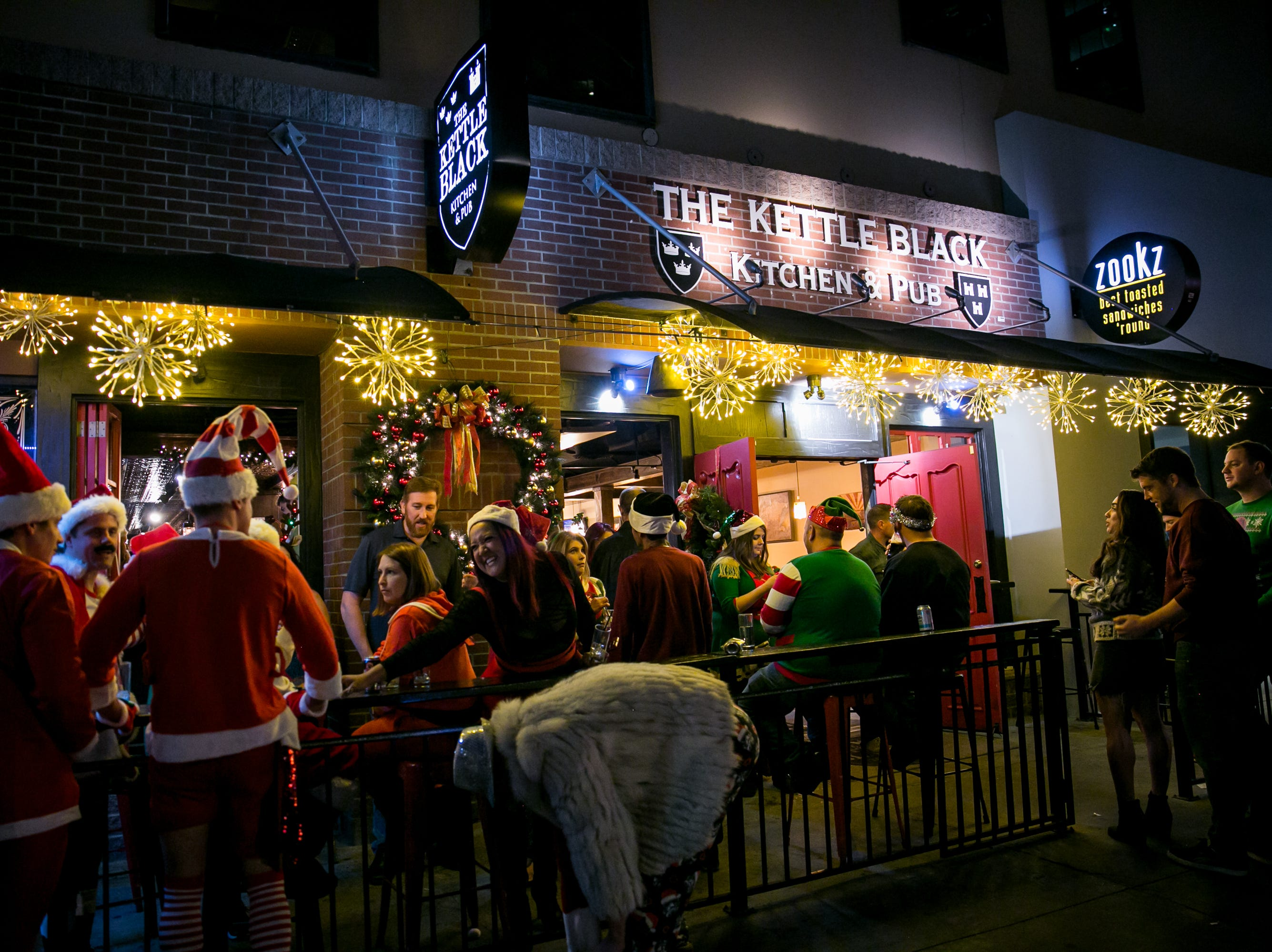 The Kettle Black was a fun hangout spot during Santarchy on Saturday, December 8, 2018.