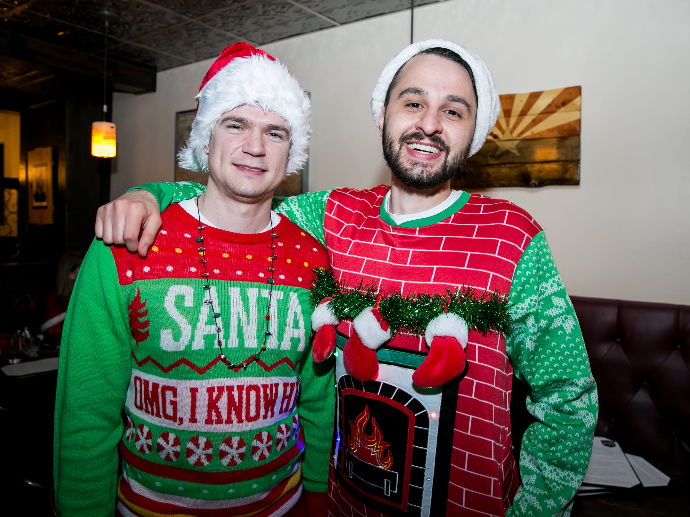 These guys were close pals to Santa at The Kettle Black during Santarchy on Saturday, December 8, 2018.