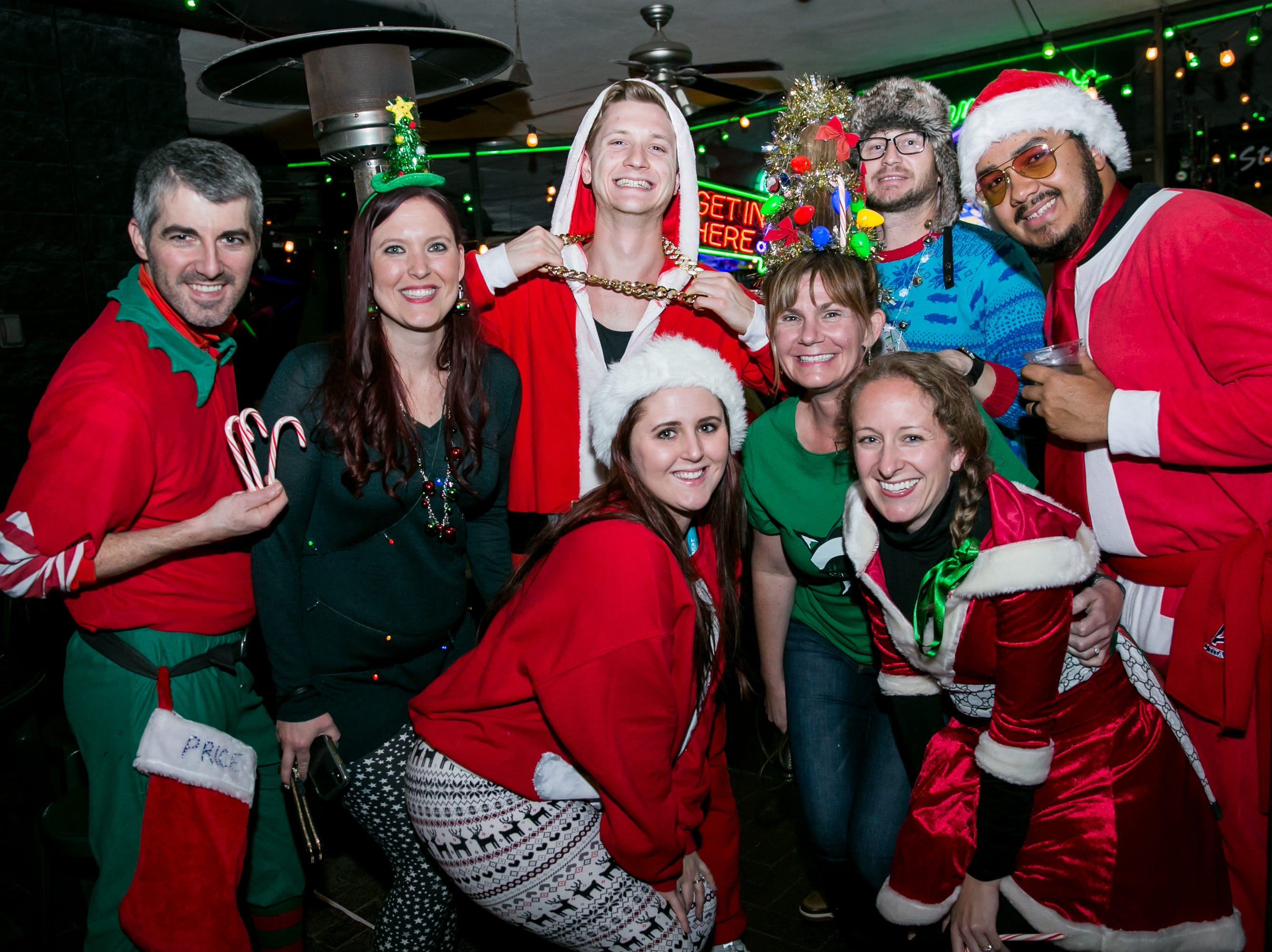 These pals went all out at Steve's Greenhouse Grill during Santarchy on Saturday, December 8, 2018.