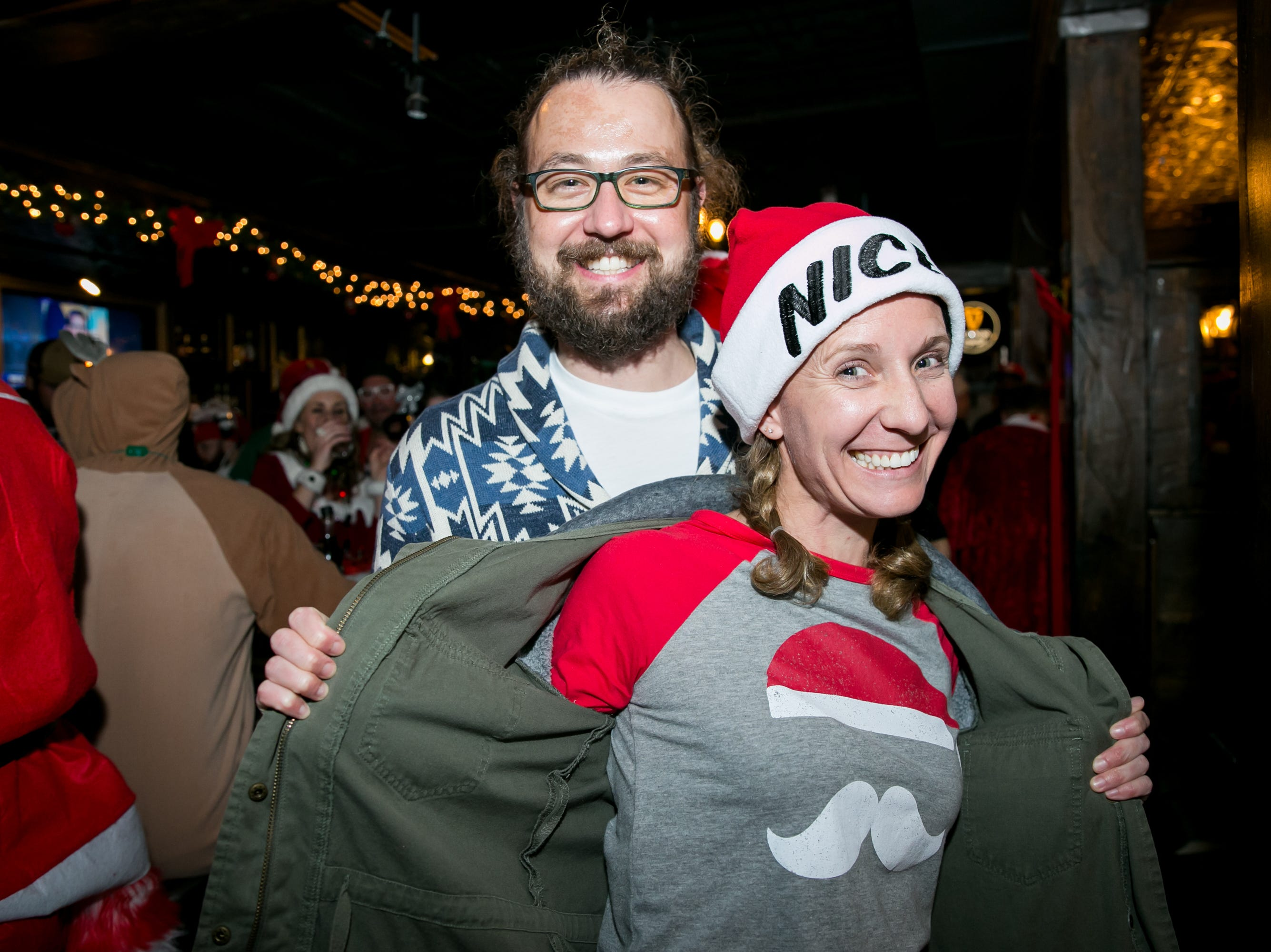 These two made Santa's good list at The Kettle Black during Santarchy on Saturday, December 8, 2018.