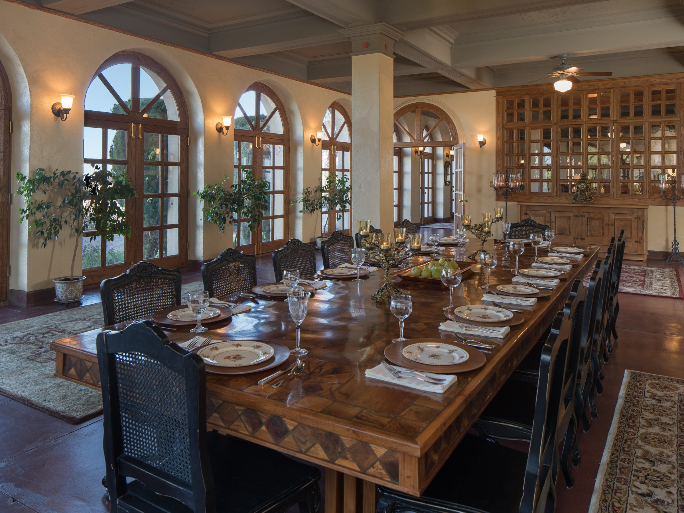 A dining room that can seat up to 135 is seen in the 100-year-old former Little Daisy Hotel in Jerome, which was later turned into a single-family home and is now on the market.