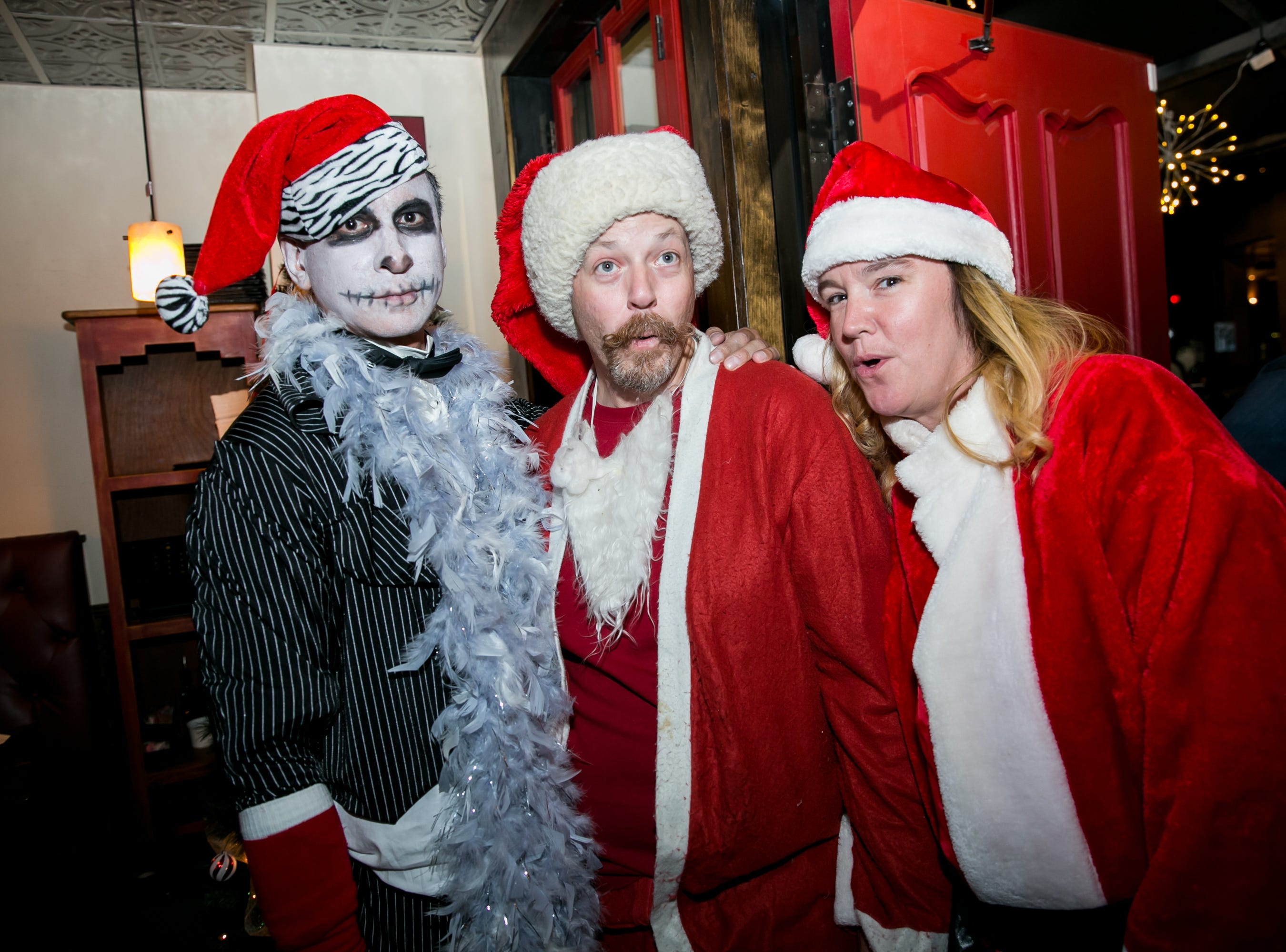 These Santas got some spooky flair at The Kettle Black during Santarchy on Saturday, December 8, 2018.