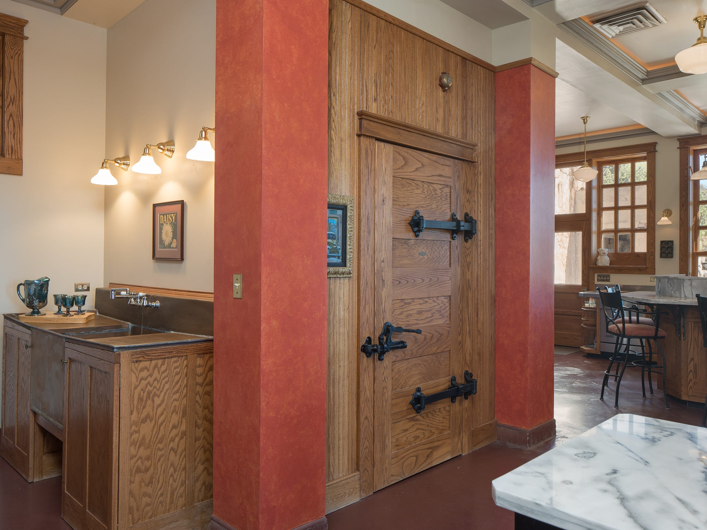 The kitchen pantry is seen in the 100-year-old former Little Daisy Hotel in Jerome, which was later turned into a single-family home and is now on the market.
