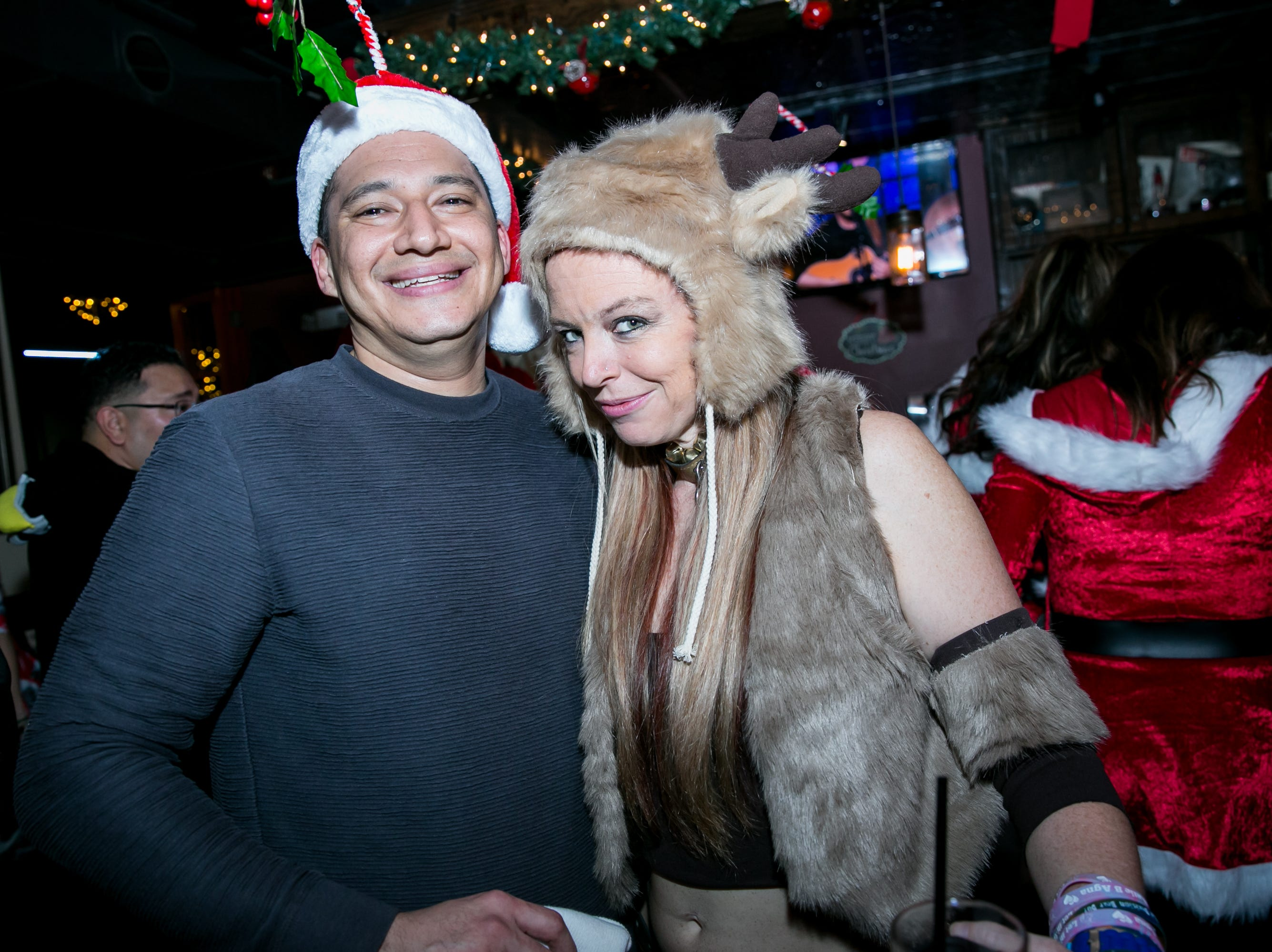 This mistletoe hat was a great choice at The Kettle Black during Santarchy on Saturday, December 8, 2018.