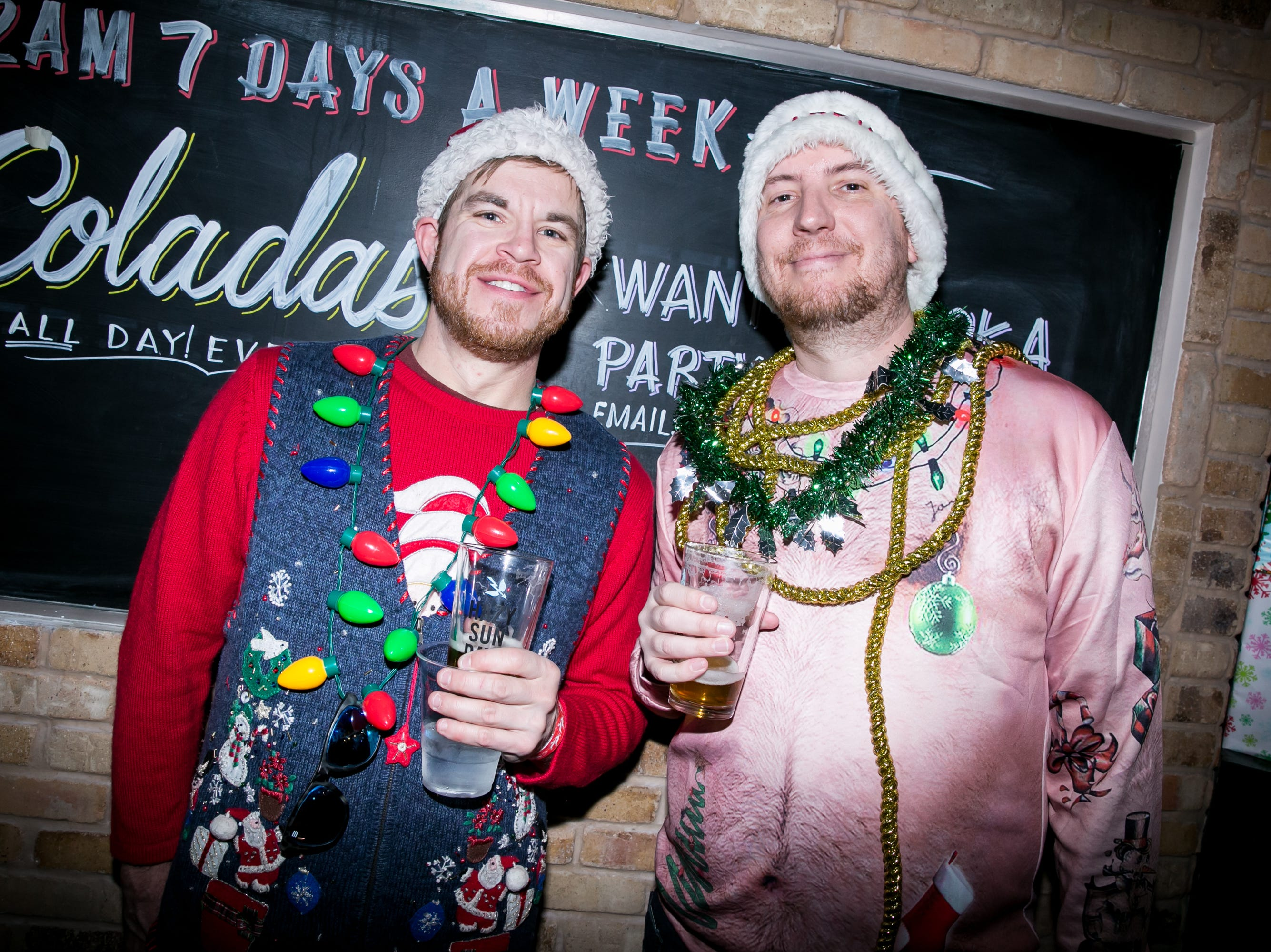 His hairy belly shirt was hilarious during the Scottsdale Santa Crawl at Old Town Gringos on Saturday, December 8, 2018.