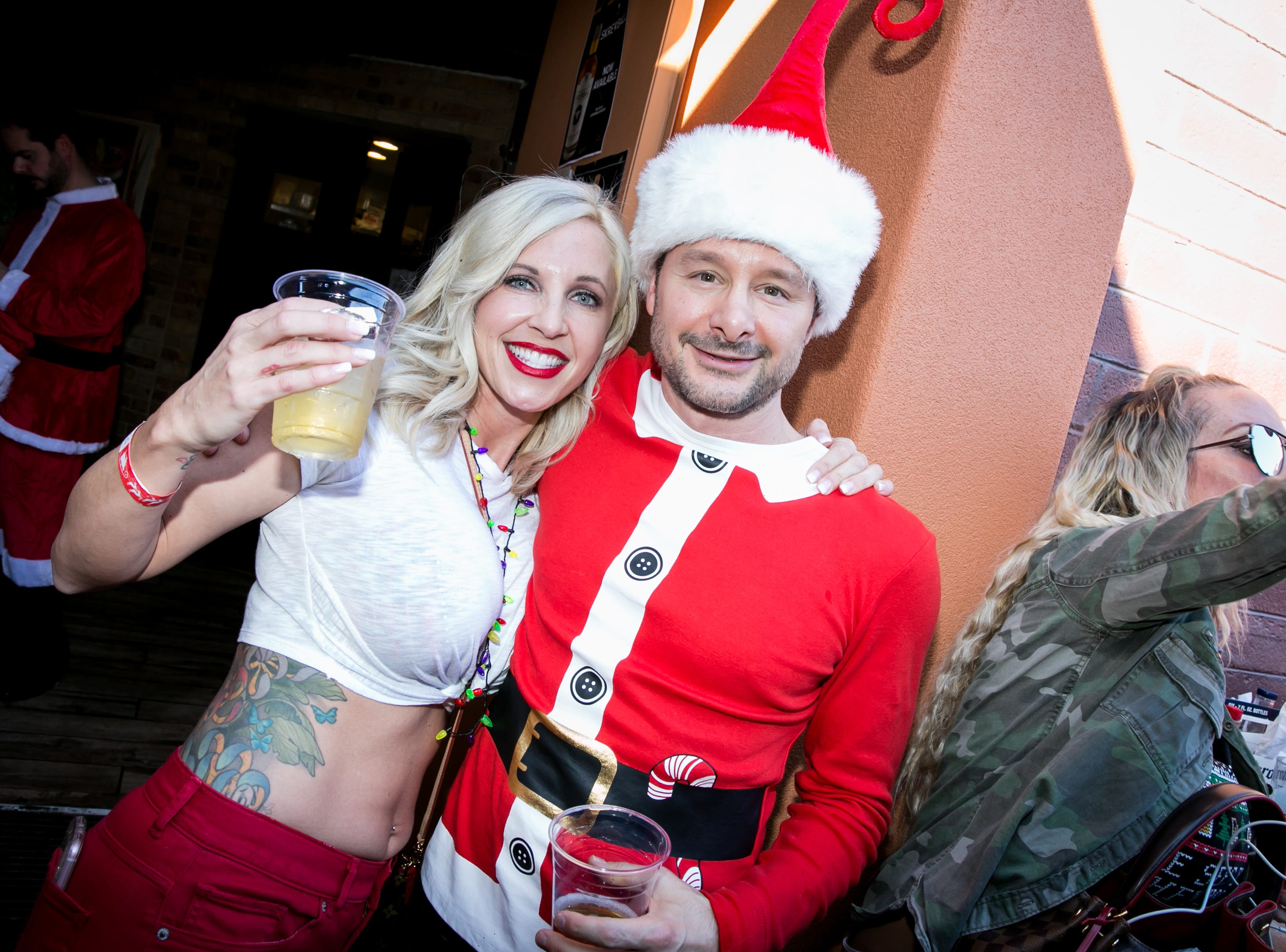 These two celebrated the 12 days of Christmas during the Scottsdale Santa Crawl at Old Town Gringos on Saturday, December 8, 2018.