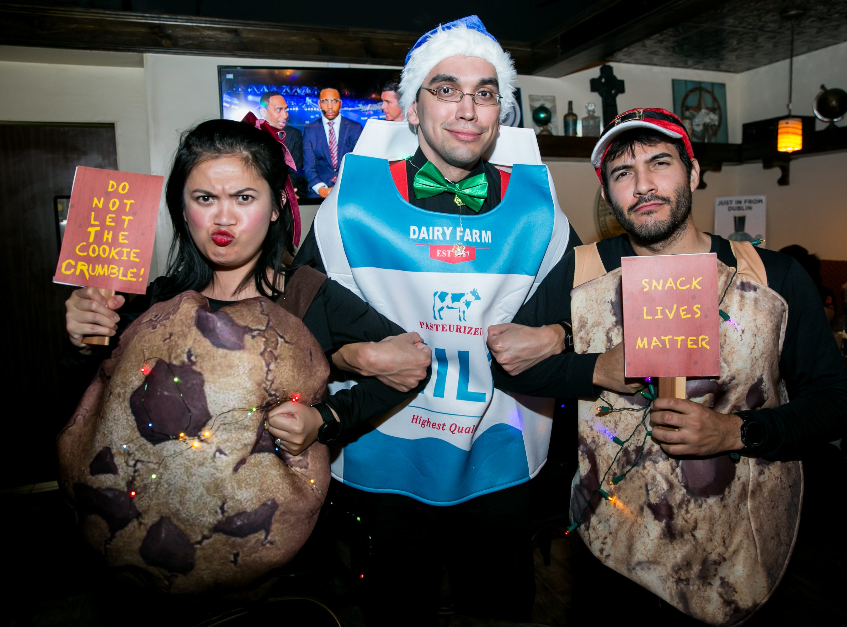 These cookies and milk costumes were amazing during Santarchy on Saturday, December 8, 2018.