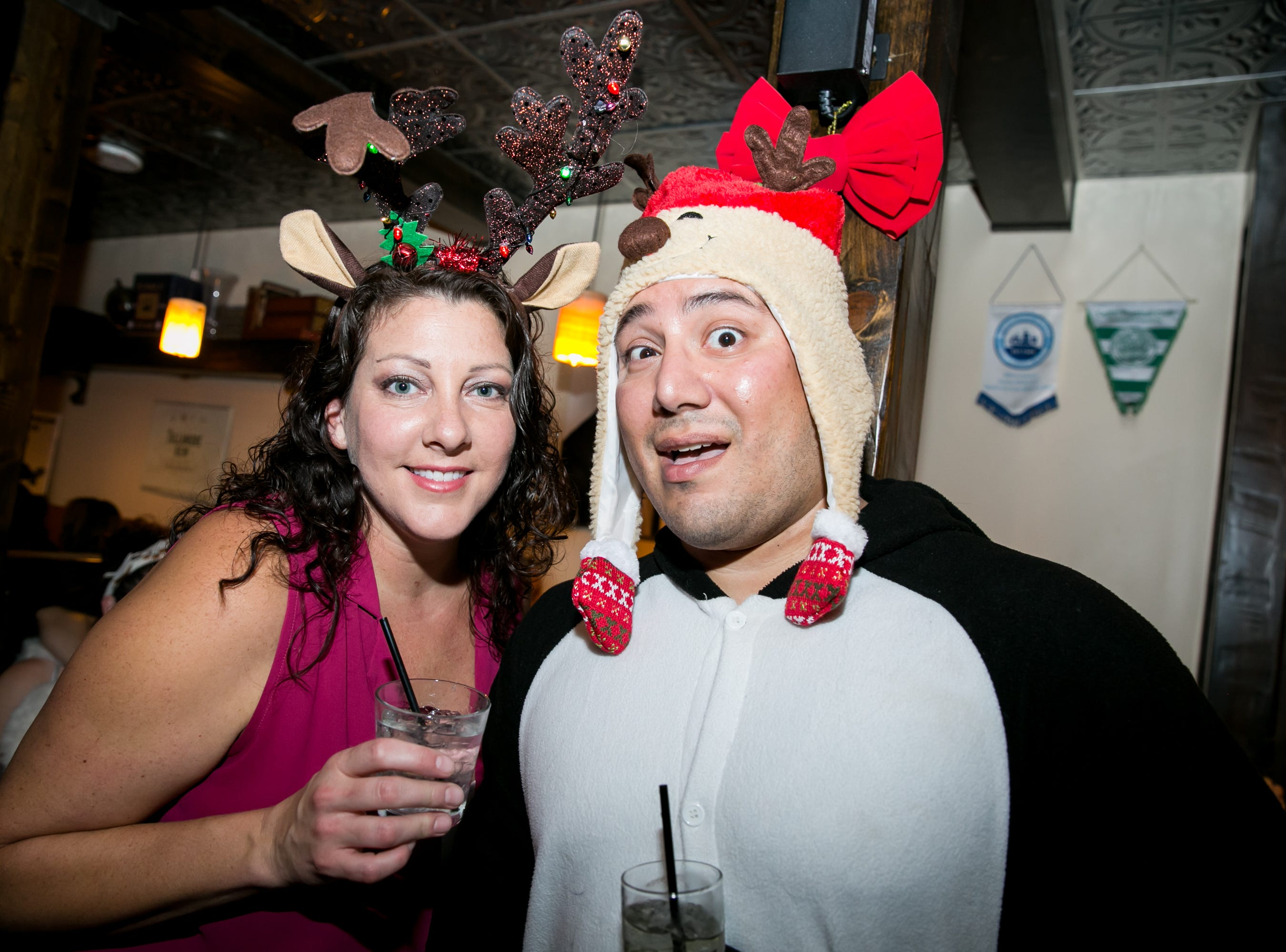 These two had a blast at The Kettle Black during Santarchy on Saturday, December 8, 2018.