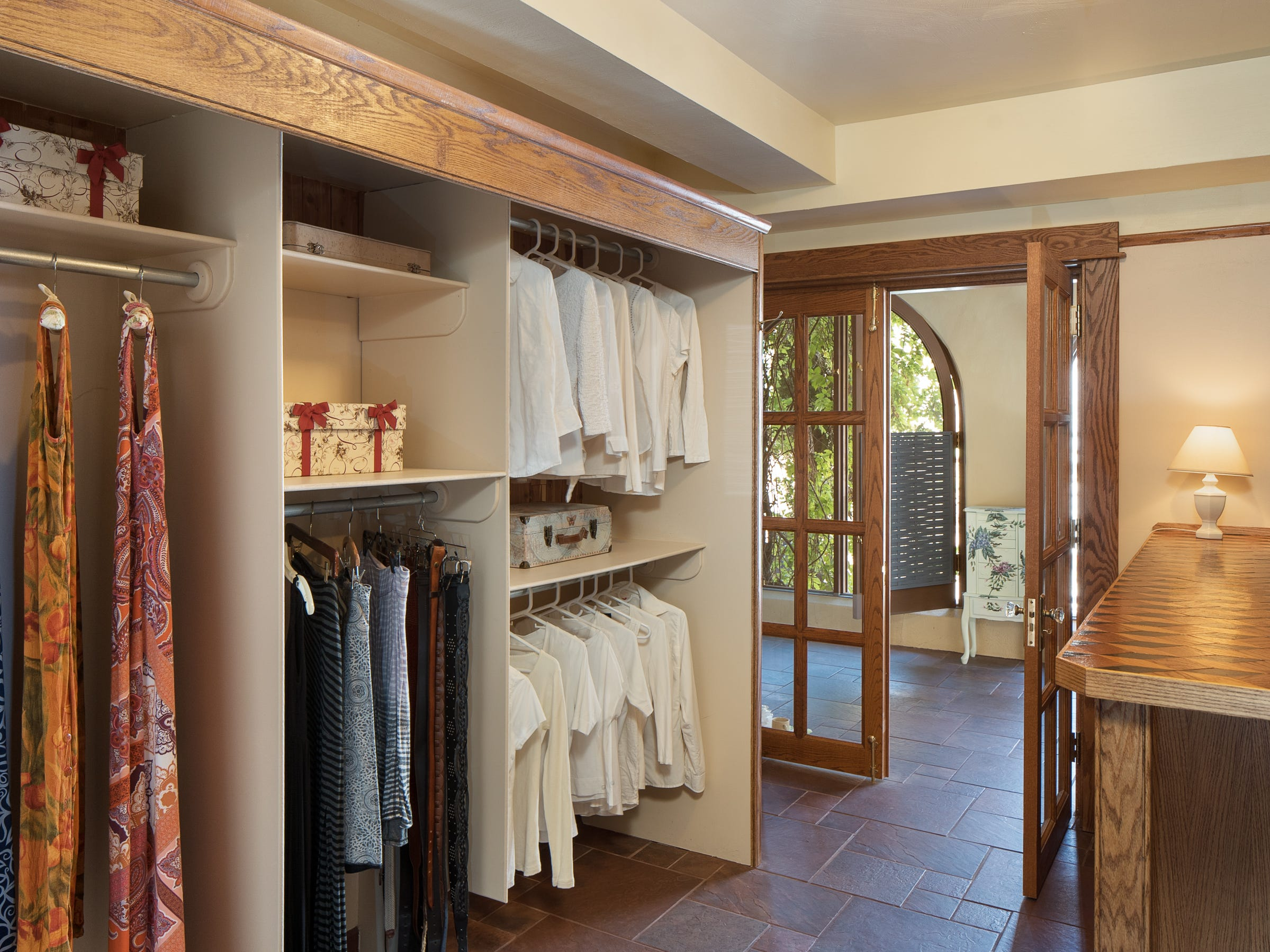 The master bedroom closet is seen at the 100-year-old former Little Daisy Hotel in Jerome, which was later turned into a single-family home and is now on the market.