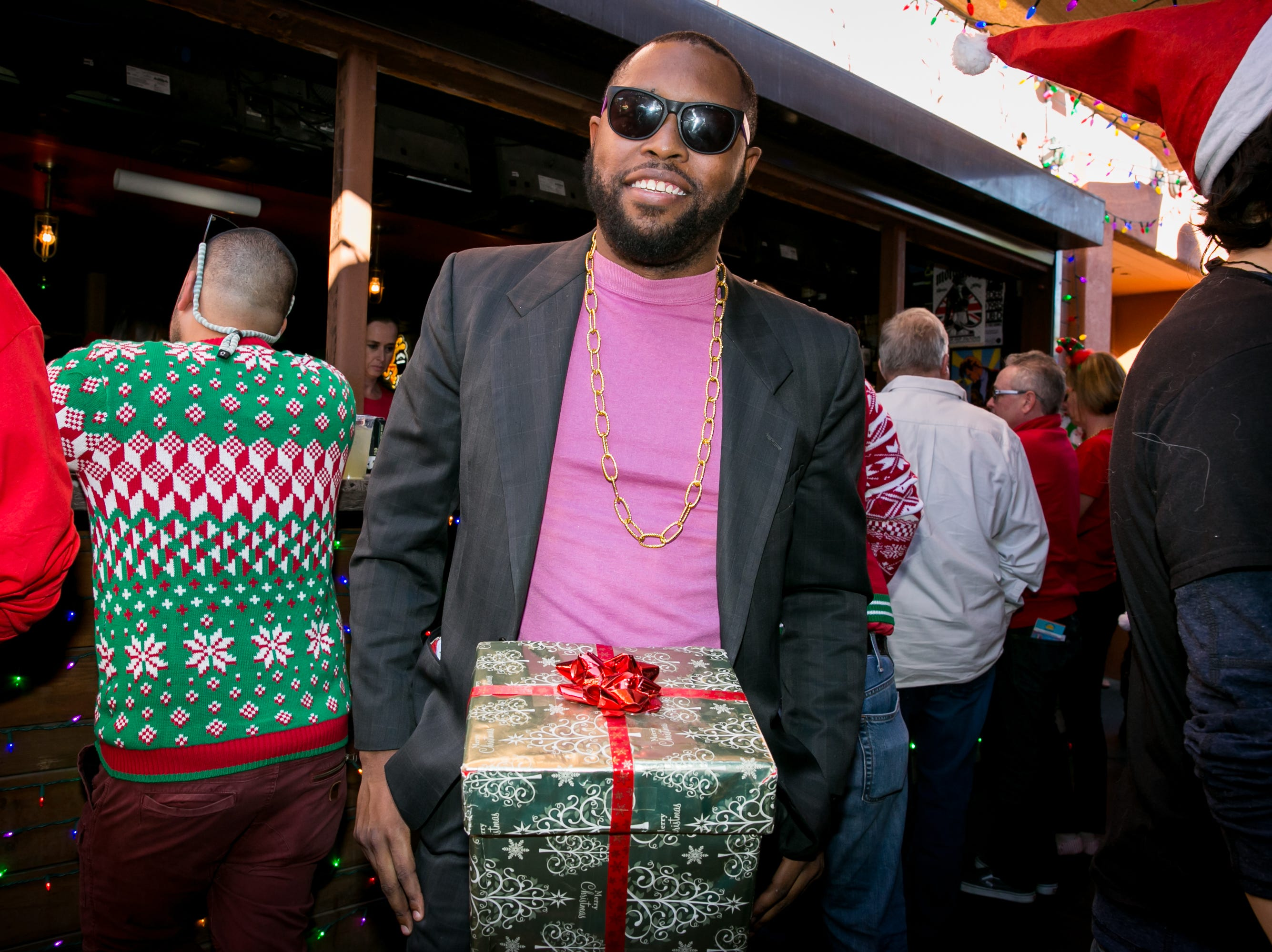 This outfit was a great nod to a favorite SNL skit during the Scottsdale Santa Crawl at Old Town Gringos on Saturday, December 8, 2018.