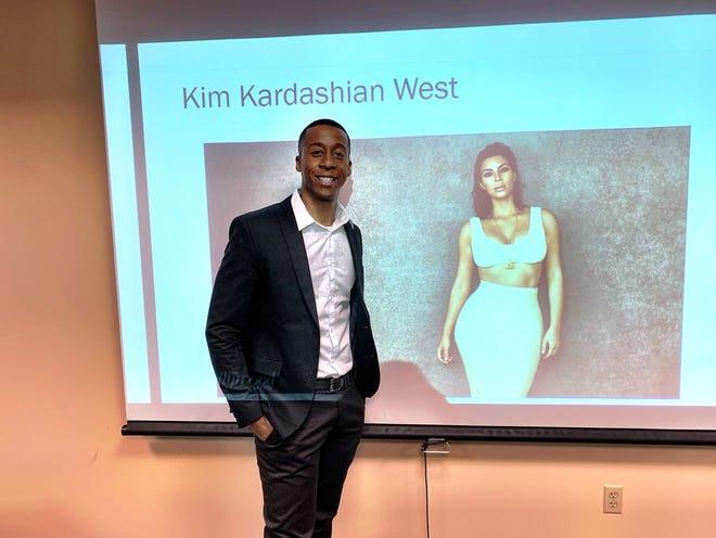NAU student Corderro McMurry presents his thesis on Kim Kardashian-West.