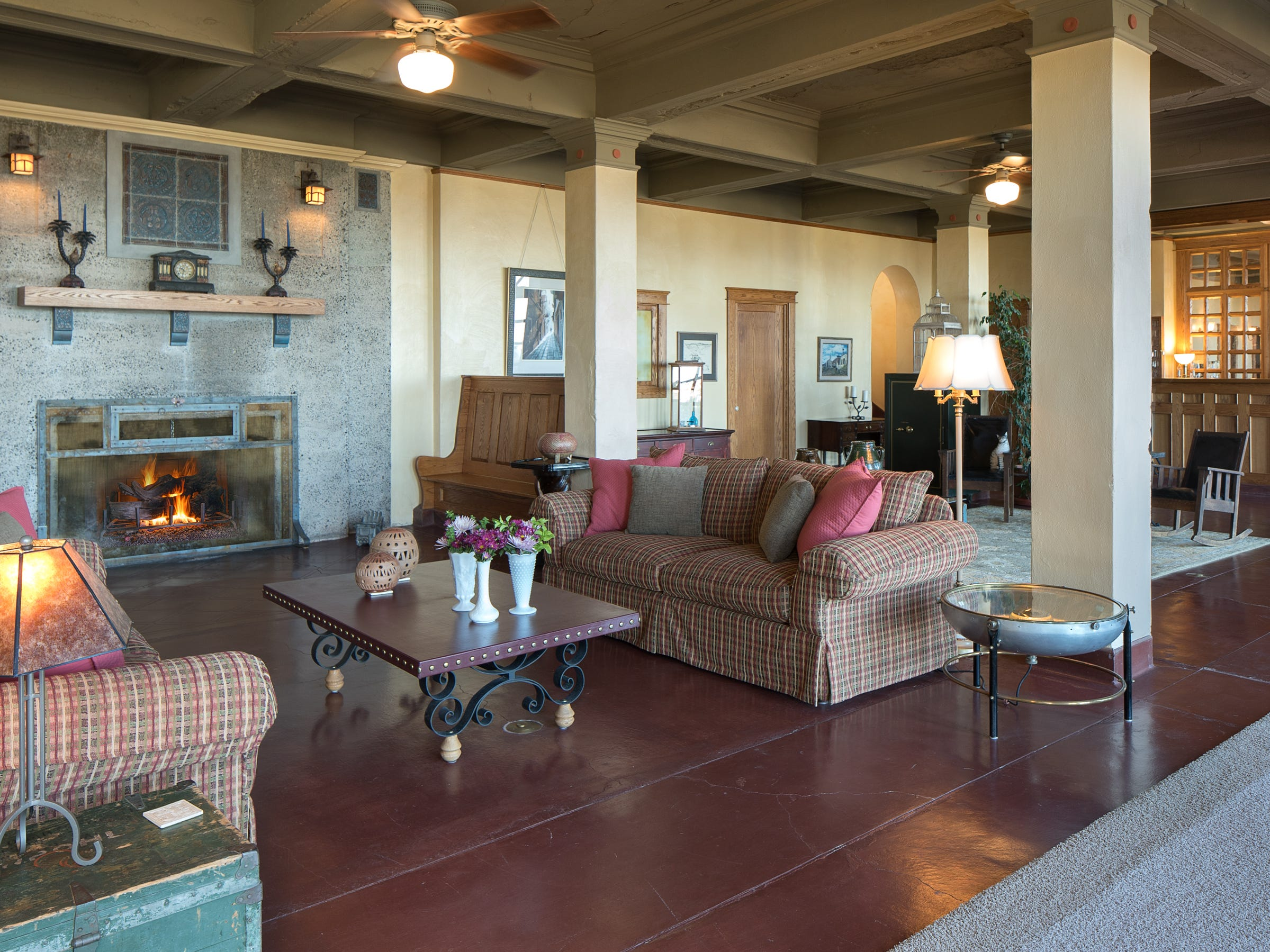 Huge living spaces are seen throughout the 100-year-old former Little Daisy Hotel in Jerome, which was later turned into a single-family home and is now on the market.