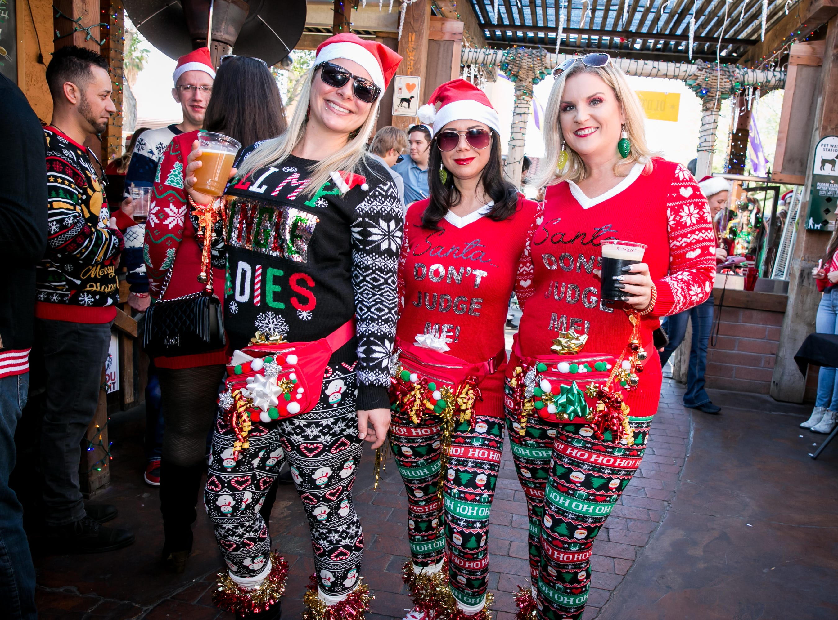 These ladies looked great during the Scottsdale Santa Crawl at Old Town Gringos on Saturday, December 8, 2018.