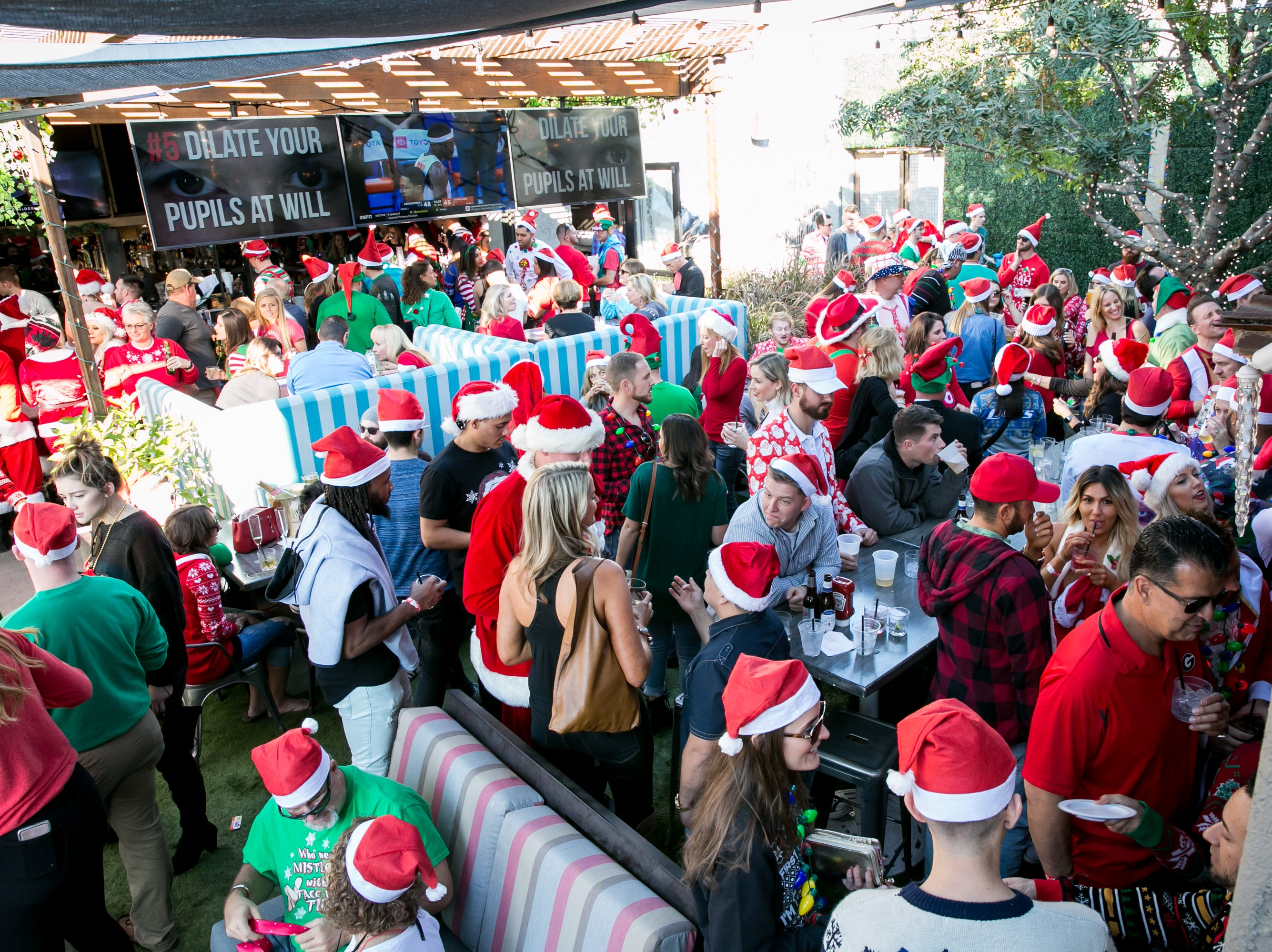 The turnout at Wasted Grain was great during the Scottsdale Santa Crawl on Saturday, December 8, 2018.