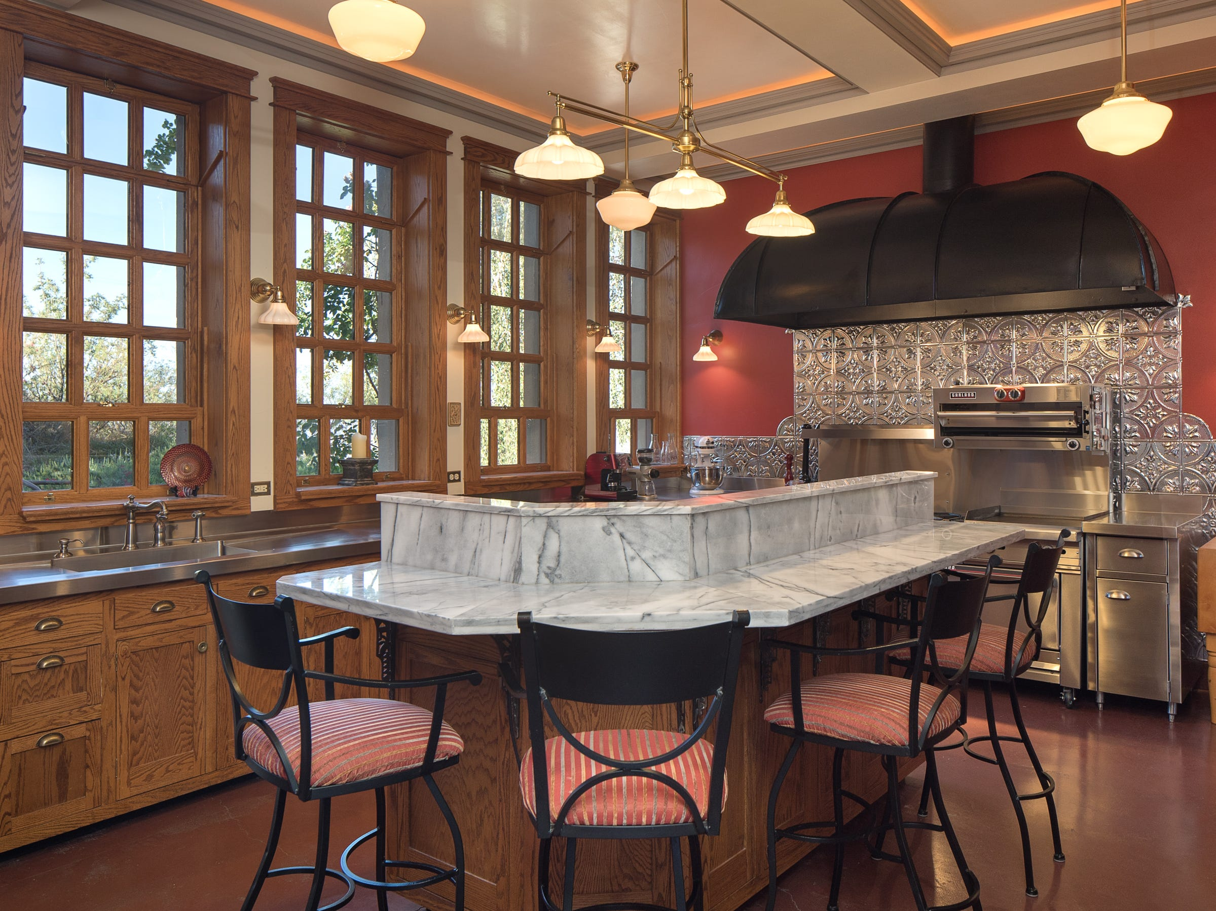 The kitchen is seen in the 100-year-old former Little Daisy Hotel in Jerome, which was later turned into a single-family home and is now on the market.