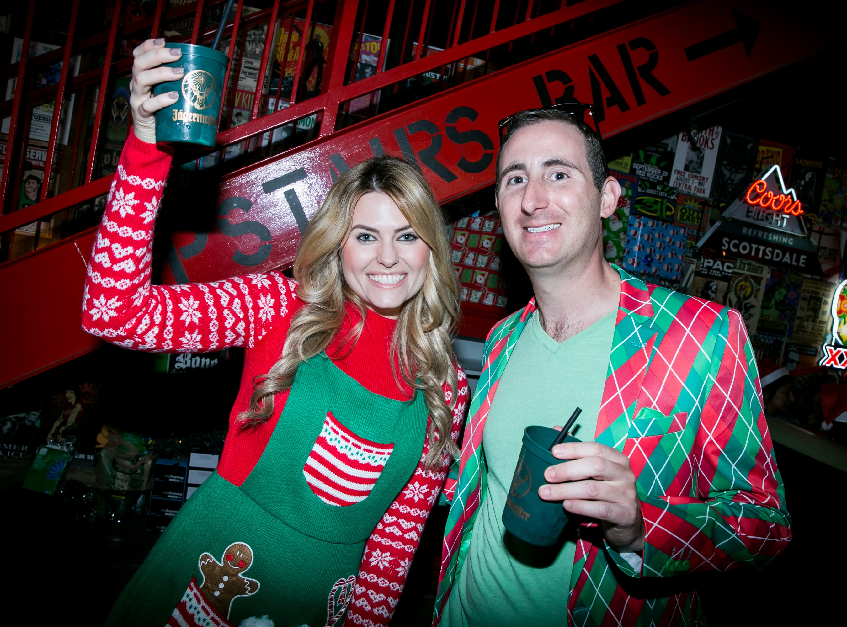 These two celebrated the most wonderful time of the year during the Scottsdale Santa Crawl at Old Town Gringos on Saturday, December 8, 2018.