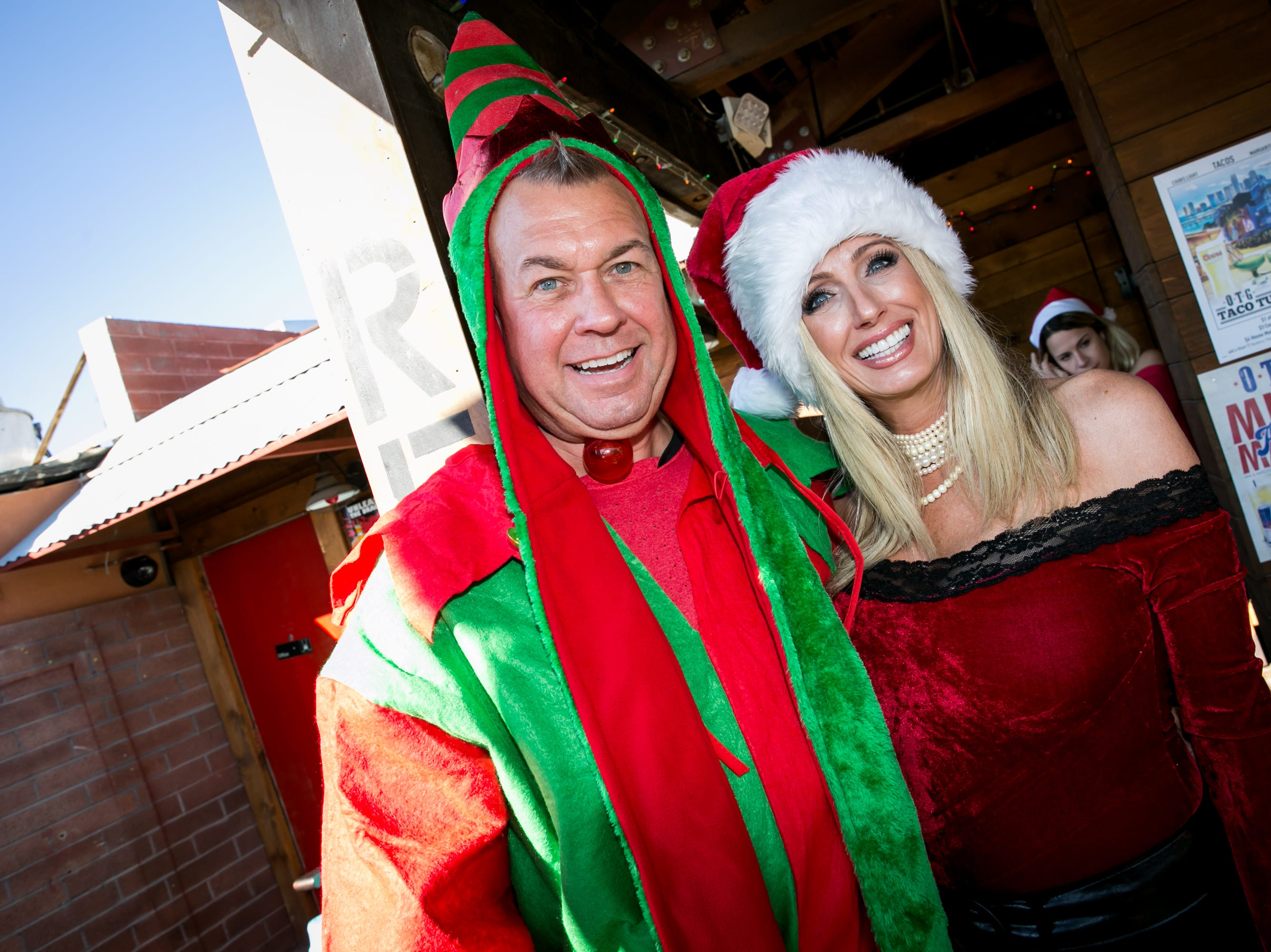 These two had a glorious time during the Scottsdale Santa Crawl at Old Town Gringos on Saturday, December 8, 2018.