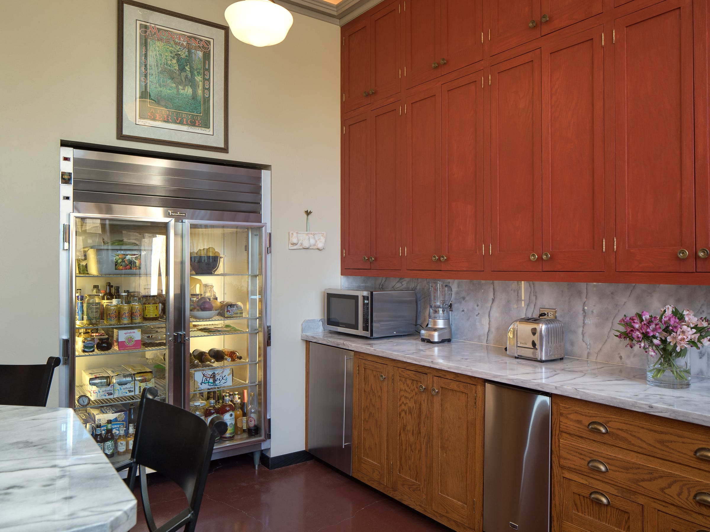 Plenty of cabinets line the kitchen in the 100-year-old former Little Daisy Hotel in Jerome, which was later turned into a single-family home and is now on the market.