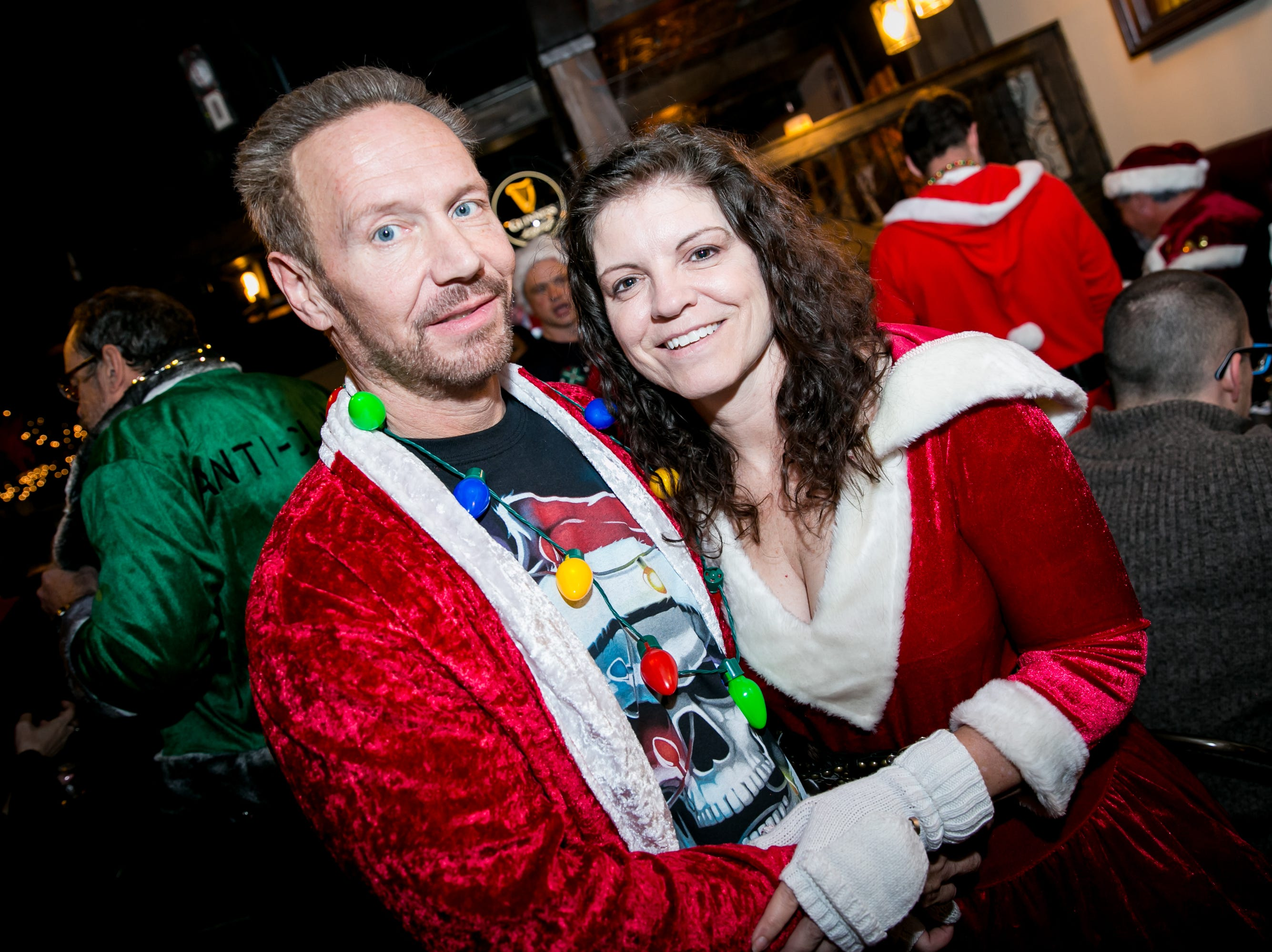 This duo celebrated the 12 days of Christmas at The Kettle Black during Santarchy on Saturday, December 8, 2018.