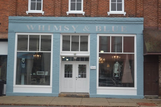 When Sandy Widmer said that when she walked into this 19th century building, originally the home of Elmore Hardware Store, she knew it was where she was meant to open her business, Whimsy & Blue Boutique.