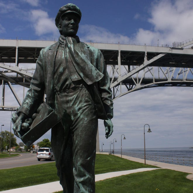 On Saturday a company plans to put a banana suit on the Thomas Edison statue in Port Huron to raise awareness for skin cancer.