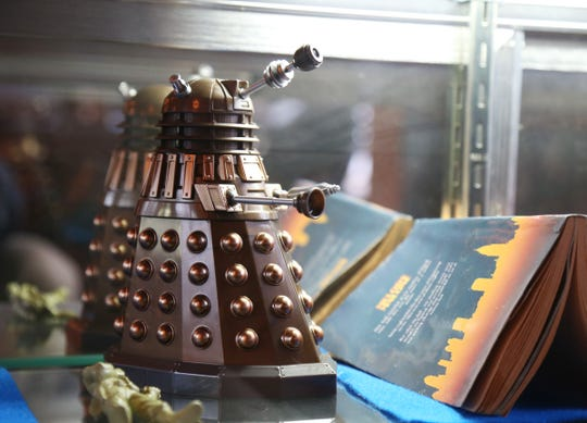 A replica of Dalek, on display at The Pandorica Restaurant in Beacon on December 5, 2018. Owner Shirley Hot has a display case with various props and memorabilia from the British television show Doctor Who.