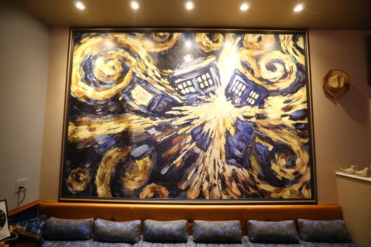 "A replica of the painting ""Exploding T.A.R.D.I.S."" at The Pandorica Restaurant in Beacon on December 5, 2018."