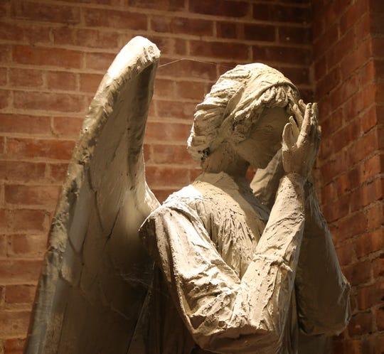 A weeping angel at The Pandorica Restaurant in Beacon on December 5, 2018.