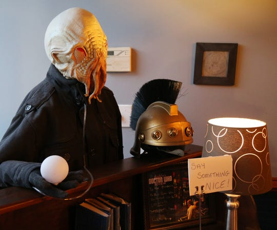 An ood greets patrons as they enter The Pandorica Restaurant in Beacon on December 5, 2018.