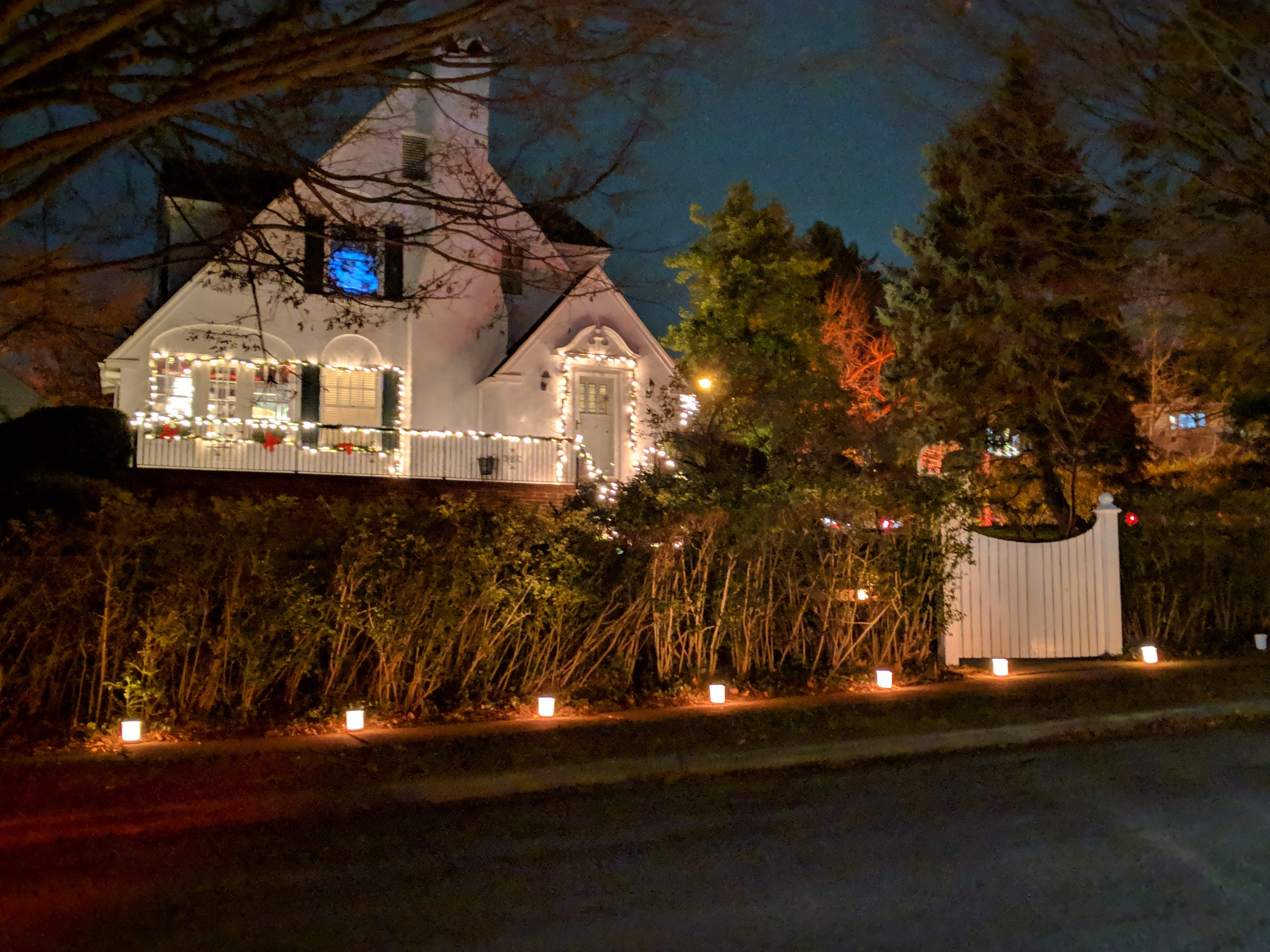 Passersby viewed a beautiful Christmas tradition in the Springdale neighborhood of York recently, where homeowners lit 1,750 luminaries.