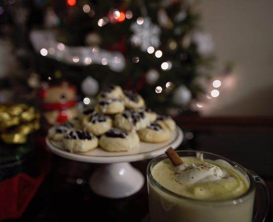 Naptime Eggnog is a nice pairing with fig thumbprint cookies for the holiday.