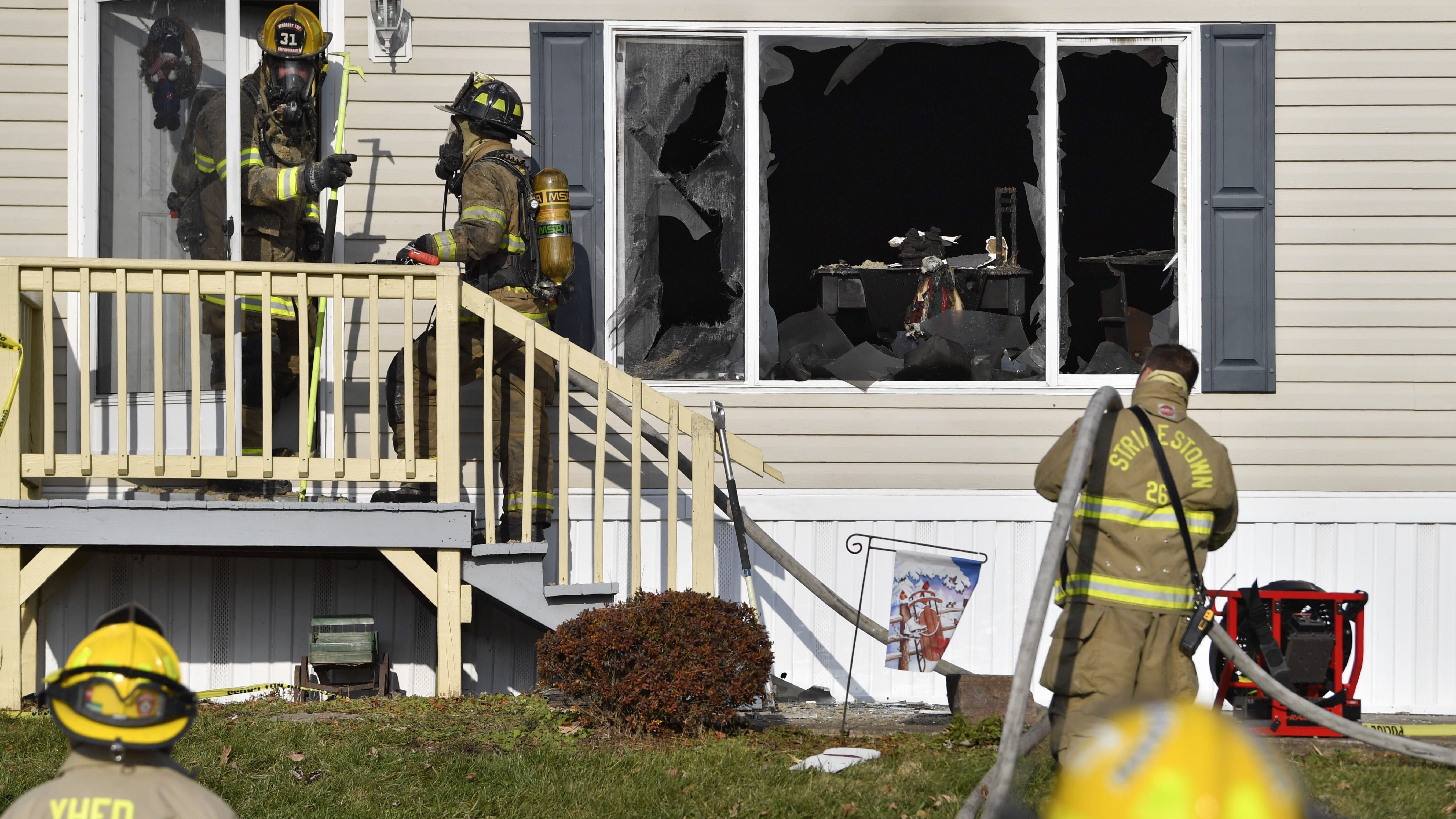 Man suspected of igniting Newberry Township trailer fire remains on the loose, police say