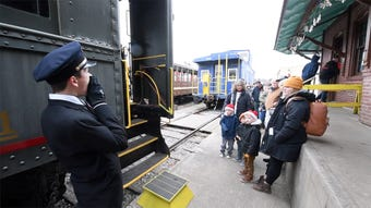 Junior Railroaders, between the ages of 10-18, experience working on a railroad at the Stewartstown Railroad=