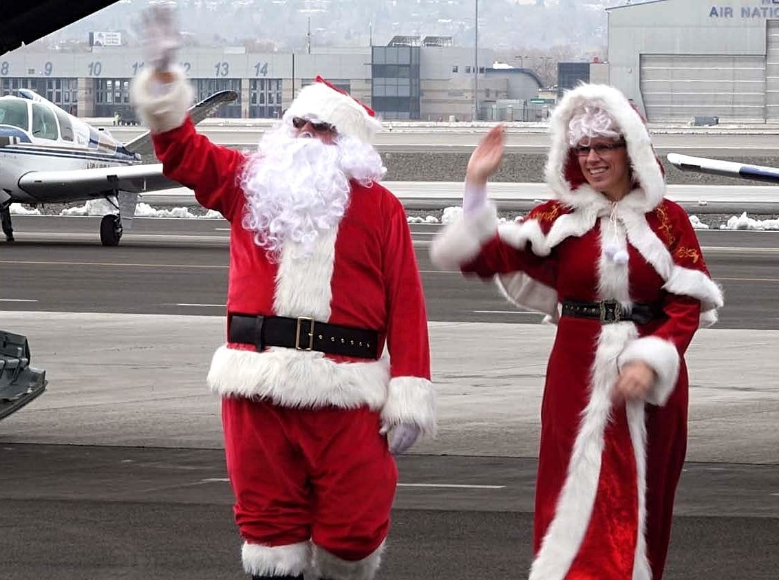 Images from Operation Santa Claus, a charity event that benefits families in need in Reno-Sparks. The event was held on Dec. 8, 2018 at Atlantic Aviation in Reno.