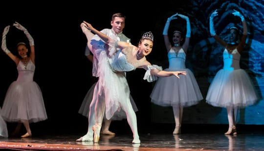Reno Dance Company members portray the Snow Queen and King.