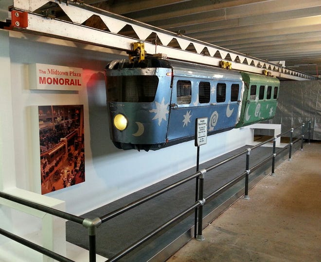 Two Midtown monorail cars are now on display at The New York Museum of Transportation in Rush.