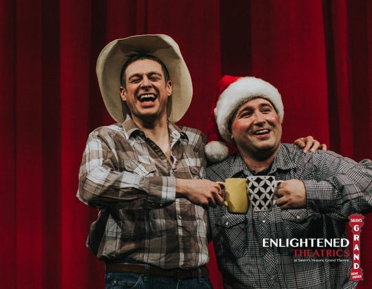 """Enlightened Theatrics presents """"A Tuna Christmas,"""" where two actors will play11characterseachin the sequel to """"Greater Tuna,"""" that takes place in the third smallest town in Texas."""
