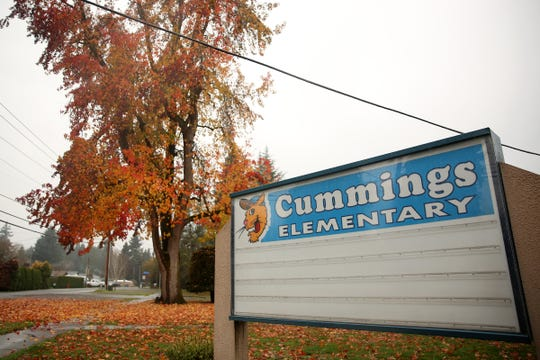 Cummings Elementary School in Keizer is pictured on Saturday, Dec. 8, 2018. A third grader recently threatened another child with a pocket knife on the playground.
