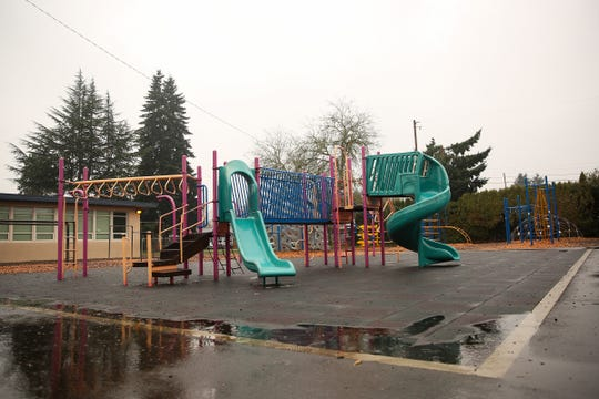 The playground at Cummings Elementary School in Keizer on Saturday, Dec. 8, 2018. A third grader recently threatened another child with a pocket knife on the playground.