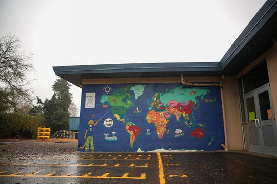 A mural near the Cummings Elementary School in Keizer on Saturday, Dec. 8, 2018. Recently, a third grader threatened another child with a pocket knife on the playground.