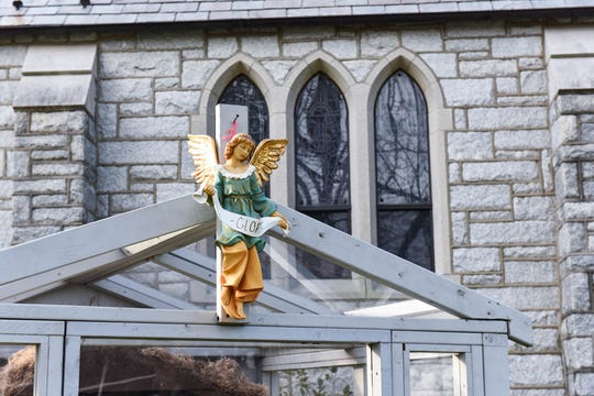 A créche sits outside of St. Edmond Catholic Church in Rehoboth Beach on Monday, Dec 10, 2018. The church attempted to display a second Nativity scene by the Rehoboth Beach Bandstand, but was told to take it down by the city.