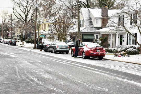 A layer of snow and ice coats cars in Salisbury on Monday, Dec 10, 2018.
