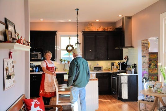 Kathy Glaser Talking With Visitor In Kitchen Of Alyssa House Bb