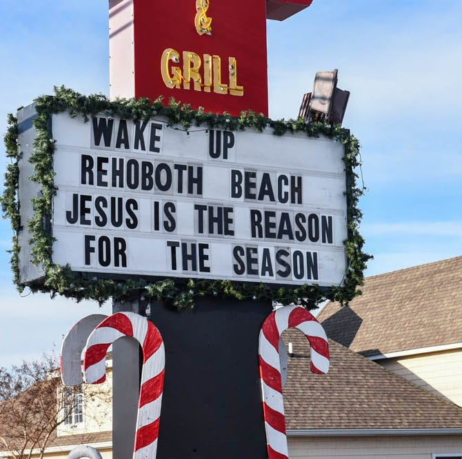 Nativity scene supporters back church in Rehoboth Beach battle