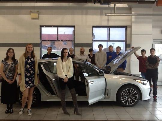 Students from Random Lake High School's media studies class visited Brantmeier Ford Lincoln Kia.
